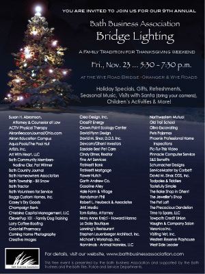 bath business association bridge lighting ad designed by creative images graphic design